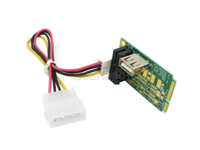 PCIe x1 & USB to mini PCIe Adapter