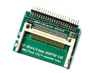Pin-bare Laptop 44-Pin Male IDE To CF Card Adapter