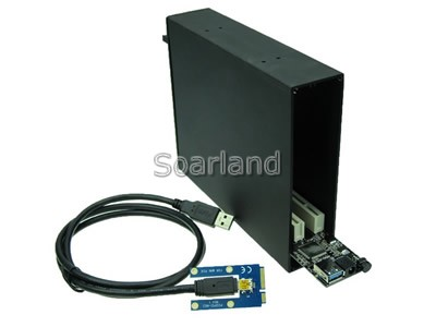 Dual PCI to mini PCIe Adapter Enclosure