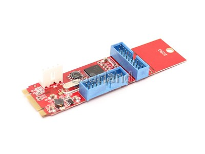 Dual 19 Pin USB 3.0 to NGFF M.2 Adapter