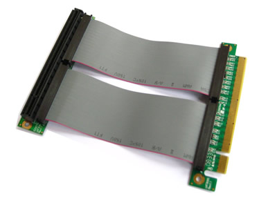 Flexible Single Slot PCI-Express 16x Riser Card