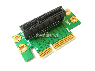Left-facing 1U PCIe 4x Riser Card