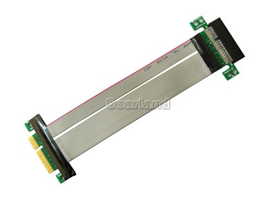 Flexible PCI-E 4x Riser Card Extender