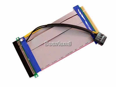 powered Flexible PCI-E 16x Riser Cable