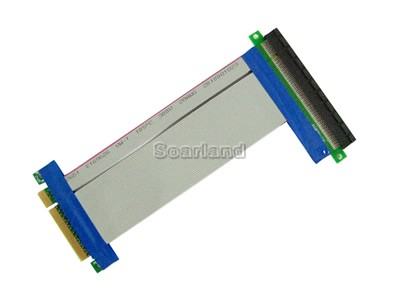 Flexible PCI-E 8x to 16x Riser Card