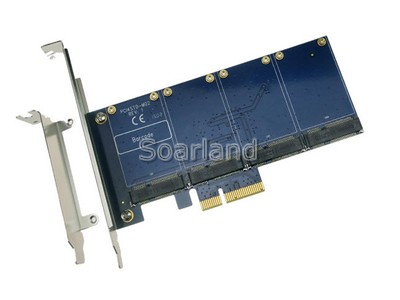 PCIe to 4 ports mSATA Adapter