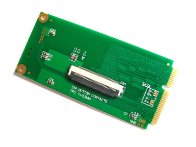 ZIF CE 1.8 Inch HDD to MiniPCI-E Adapter