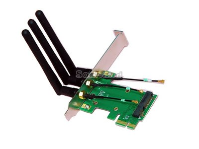 MiniPCI-E to PCI-E Wireless Adapter